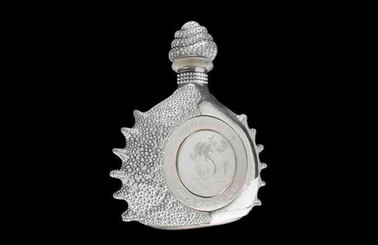 01.Pasion azteca platinum liquor bottle by tequila ley .925