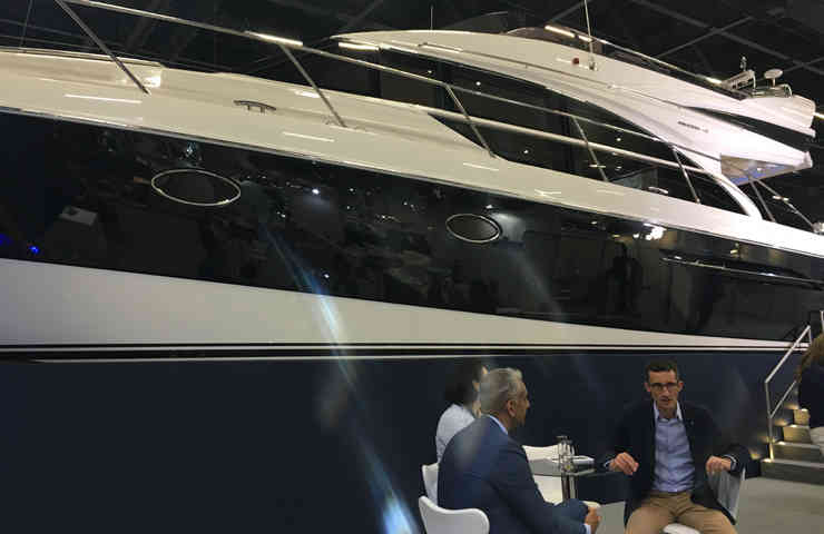 DESTAQUE Princess 60 elegancia SP boat show 1