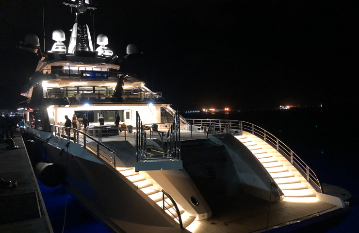 gibraltar BravoEugenia 109m new Superyacht owned by Texas Billionaire Jerryjones owner of DallasCowboys shipyard oceanco design nuvolarilenard interior by raymondlangtondesign