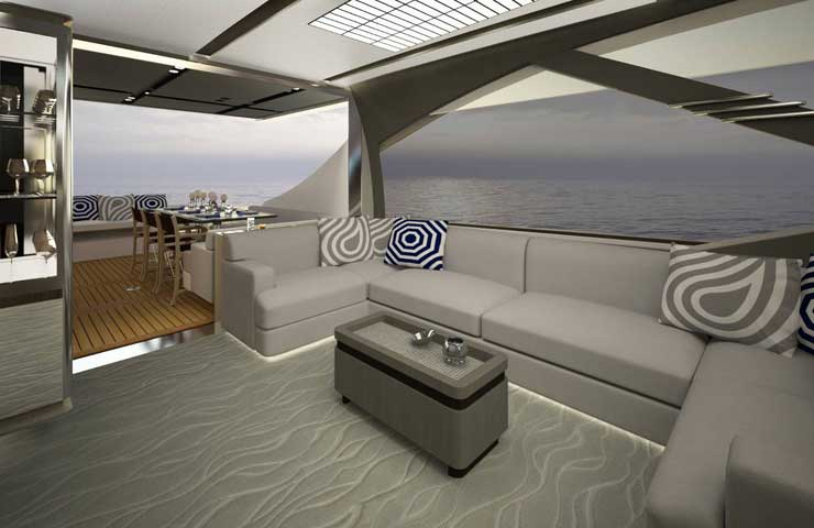 Azimut S7 gallery saloon DESTAQUE