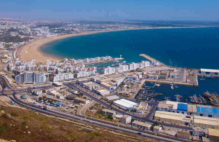 Areal view of Agadir