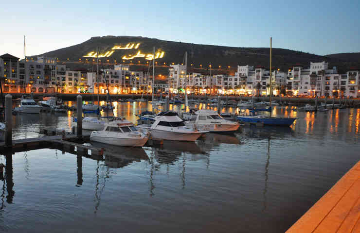 agadir marina night